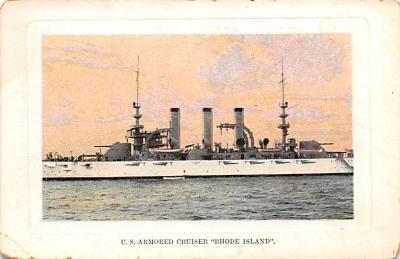 mil052225 - Military Battleship Postcard, Old Vintage Antique Military Ship Post Card