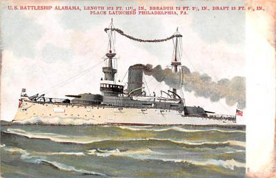 mil052232 - Military Battleship Postcard, Old Vintage Antique Military Ship Post Card