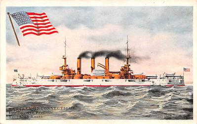 mil052239 - Military Battleship Postcard, Old Vintage Antique Military Ship Post Card