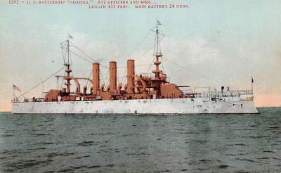 mil052242 - Military Battleship Postcard, Old Vintage Antique Military Ship Post Card