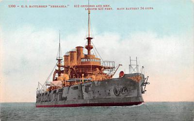 mil052246 - Military Battleship Postcard, Old Vintage Antique Military Ship Post Card