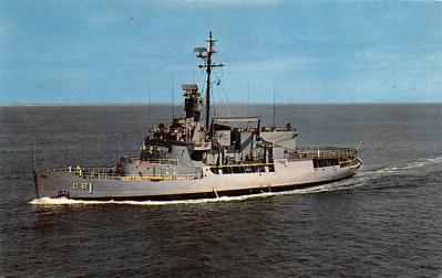 mil052267 - Military Battleship Postcard, Old Vintage Antique Military Ship Post Card