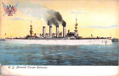 mil052269 - Military Battleship Postcard, Old Vintage Antique Military Ship Post Card