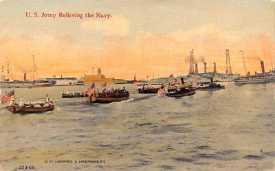 mil052285 - Military Battleship Postcard, Old Vintage Antique Military Ship Post Card