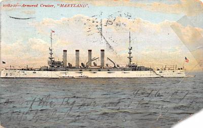 mil052300 - Military Battleship Postcard, Old Vintage Antique Military Ship Post Card