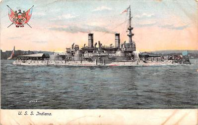 mil052301 - Military Battleship Postcard, Old Vintage Antique Military Ship Post Card