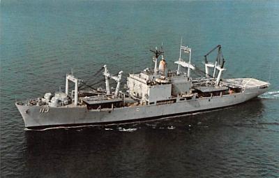 mil052305 - Military Battleship Postcard, Old Vintage Antique Military Ship Post Card