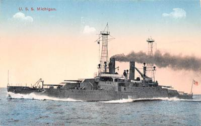 mil052313 - Military Battleship Postcard, Old Vintage Antique Military Ship Post Card