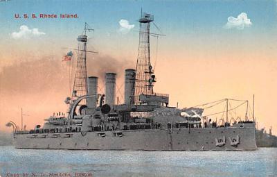 mil052315 - Military Battleship Postcard, Old Vintage Antique Military Ship Post Card