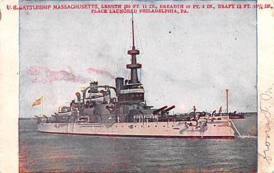 mil052318 - Military Battleship Postcard, Old Vintage Antique Military Ship Post Card