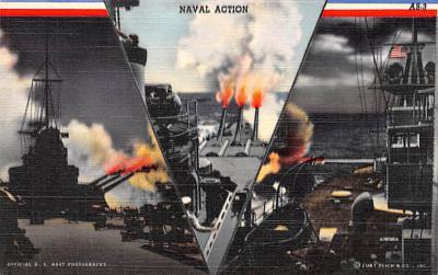 mil052327 - Military Battleship Postcard, Old Vintage Antique Military Ship Post Card