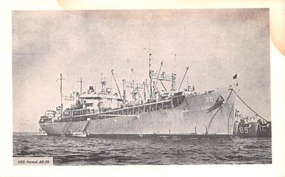 mil052370 - Military Battleship Postcard, Old Vintage Antique Military Ship Post Card