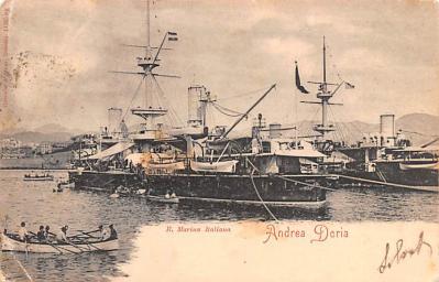mil052377 - Military Battleship Postcard, Old Vintage Antique Military Ship Post Card