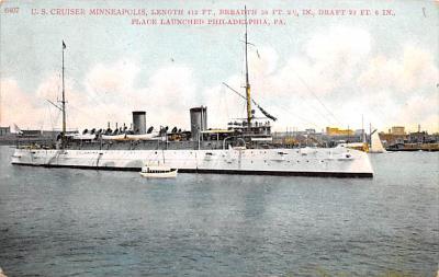 mil052378 - Military Battleship Postcard, Old Vintage Antique Military Ship Post Card