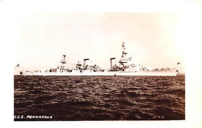 mil052380 - Military Battleship Postcard, Old Vintage Antique Military Ship Post Card