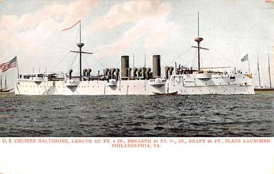 mil052395 - Military Battleship Postcard, Old Vintage Antique Military Ship Post Card