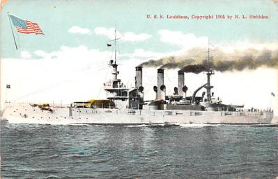 mil052404 - Military Battleship Postcard, Old Vintage Antique Military Ship Post Card