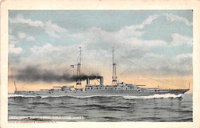 mil052427 - Military Battleship Postcard, Old Vintage Antique Military Ship Post Card
