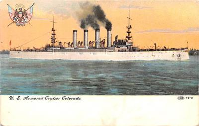 mil052428 - Military Battleship Postcard, Old Vintage Antique Military Ship Post Card