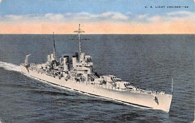 mil052442 - Military Battleship Postcard, Old Vintage Antique Military Ship Post Card