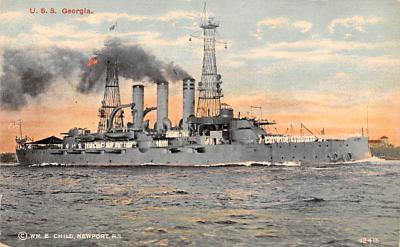 mil052446 - Military Battleship Postcard, Old Vintage Antique Military Ship Post Card