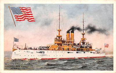 mil052478 - Military Battleship Postcard, Old Vintage Antique Military Ship Post Card