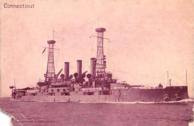 mil052482 - Military Battleship Postcard, Old Vintage Antique Military Ship Post Card