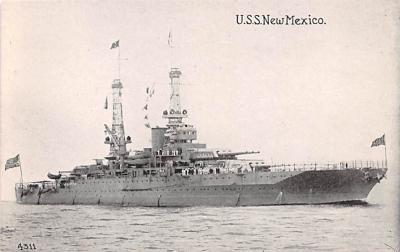 mil052500 - Military Battleship Postcard, Old Vintage Antique Military Ship Post Card