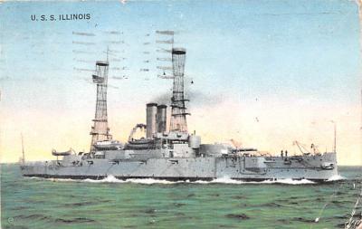 mil052501 - Military Battleship Postcard, Old Vintage Antique Military Ship Post Card