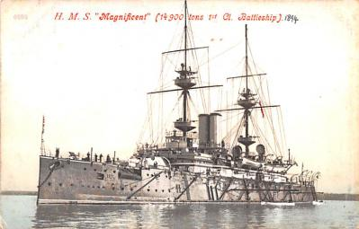 mil052505 - Military Battleship Postcard, Old Vintage Antique Military Ship Post Card