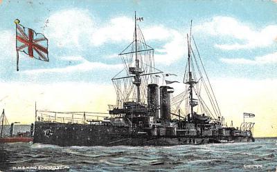 mil052506 - Military Battleship Postcard, Old Vintage Antique Military Ship Post Card