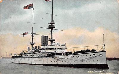 mil052510 - Military Battleship Postcard, Old Vintage Antique Military Ship Post Card