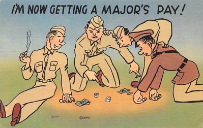 mil201017 - Military Comic Postcard, Old Vintage Antique Post Card