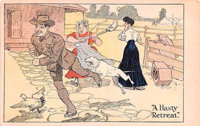 mil201030 - Military Comic Postcard, Old Vintage Antique Post Card
