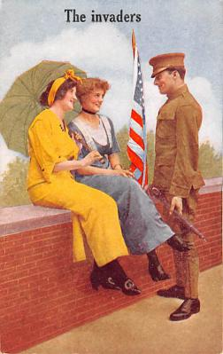mil201050 - Military Comic Postcard, Old Vintage Antique Post Card