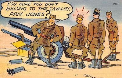 mil201082 - Military Comic Postcard, Old Vintage Antique Post Card