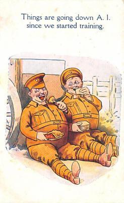 mil201094 - Military Comic Postcard, Old Vintage Antique Post Card