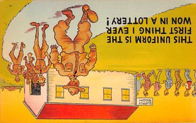 mil201125 - Military Comic Postcard, Old Vintage Antique Post Card