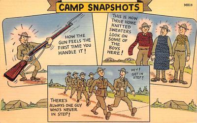 mil201131 - Military Comic Postcard, Old Vintage Antique Post Card