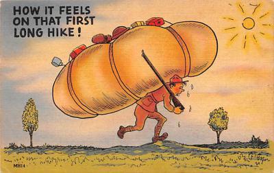 mil201132 - Military Comic Postcard, Old Vintage Antique Post Card