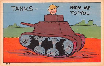 mil201134 - Military Comic Postcard, Old Vintage Antique Post Card