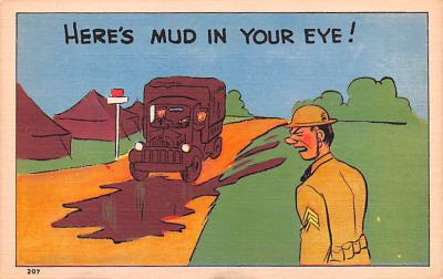 mil201135 - Military Comic Postcard, Old Vintage Antique Post Card