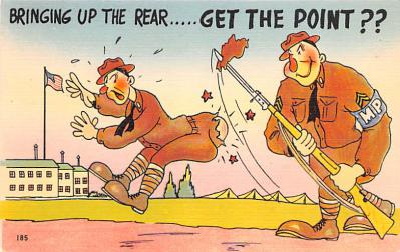 mil201142 - Military Comic Postcard, Old Vintage Antique Post Card