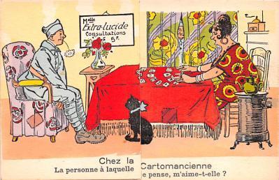 mil201164 - Military Comic Postcard, Old Vintage Antique Post Card