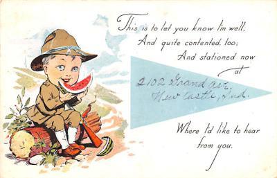 mil201165 - Military Comic Postcard, Old Vintage Antique Post Card