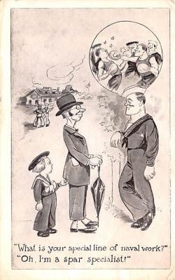 mil201169 - Military Comic Postcard, Old Vintage Antique Post Card