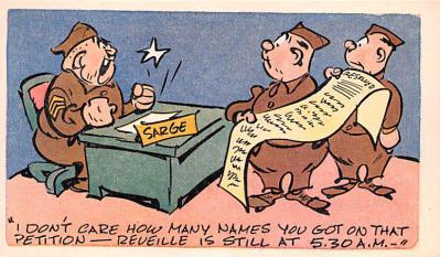 mil201180 - Military Comic Postcard, Old Vintage Antique Post Card