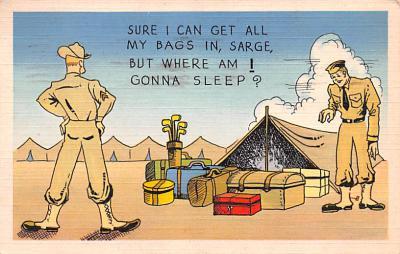 mil201207 - Military Comic Postcard, Old Vintage Antique Post Card