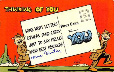 mil201210 - Military Comic Postcard, Old Vintage Antique Post Card