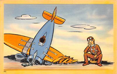 mil201211 - Military Comic Postcard, Old Vintage Antique Post Card